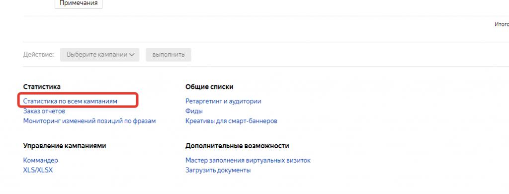 Кампания в Яндекс.Директ