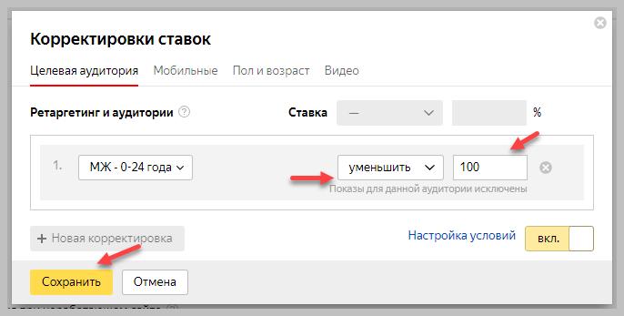 Уменьшение ставки в Яндекс Директ
