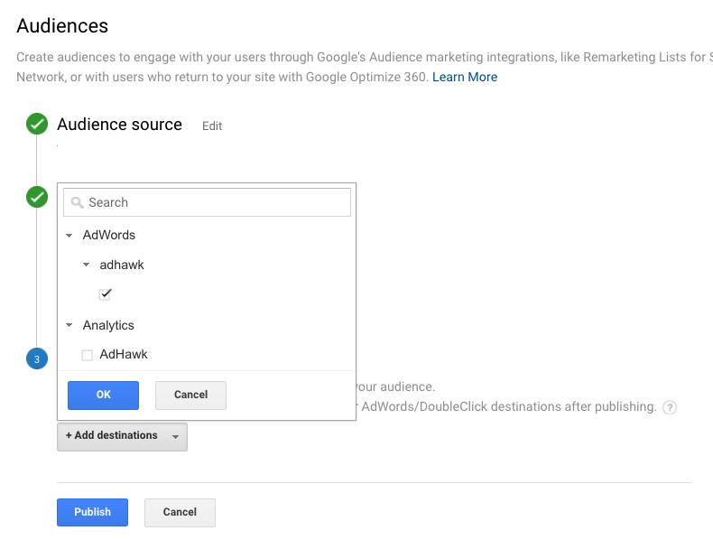 Отправка списка в Google Adwords