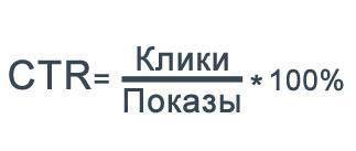 Формула просчёта CTR
