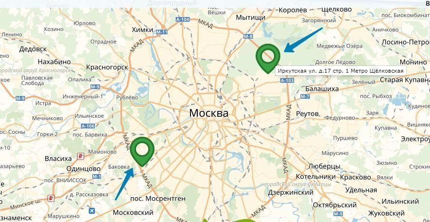 Карта офисов