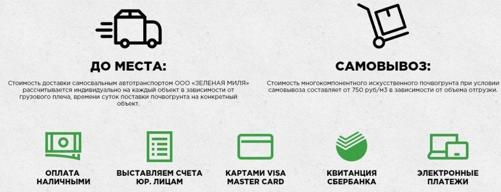 Подробная информация о способах оплаты